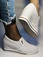 Хіт! Стильні жіночі кеди-білі кросівки.Натуральна шкіра. Розмір 39., фото 5