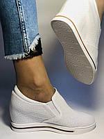 Хіт! Стильні жіночі кеди-білі кросівки.Натуральна шкіра. Розмір 39., фото 2