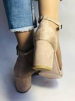 Высокое качество! Женские босоножки с открытым носом,на среднем каблуке,с ремешком на щиколотке.36-40.Vellena, фото 6
