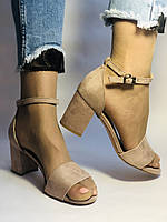 Высокое качество! Женские босоножки с открытым носом,на среднем каблуке,с ремешком на щиколотке.36-40.Vellena, фото 9