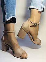 Высокое качество! Женские босоножки с открытым носом,на среднем каблуке,с ремешком на щиколотке.36-40.Vellena, фото 4