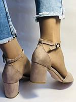 Высокое качество! Женские босоножки с открытым носом,на среднем каблуке,с ремешком на щиколотке.36-40.Vellena, фото 8