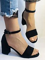 Висока якість! Жіночі босоніжки з відкритим носом,на середньому каблуці,з ремінцем на кісточці.34-41.Vellena, фото 2