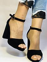 Висока якість! Жіночі босоніжки з відкритим носом,на високому каблуці,з ремінцем на кісточці.35-40.Vellena, фото 10