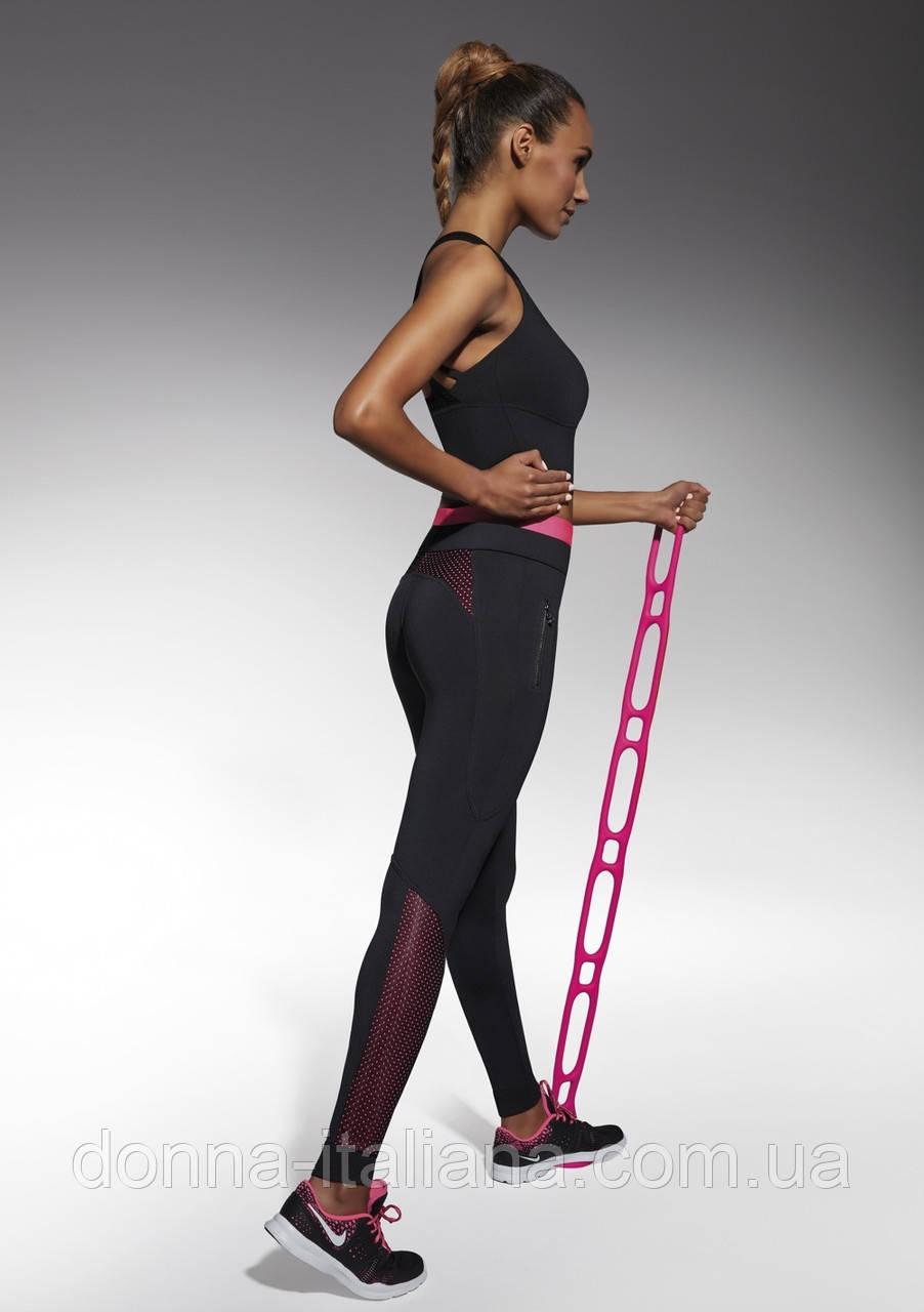 Жіночий костюм для фітнесу Bas Bleu Inspire S Чорний з рожевим (bb0155)