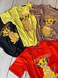 Футболка молодежная Король Лев, натуральная ткань, 6 цветов р.42-46 код 740Г, фото 6