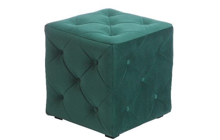 Пуф Ромби зеленый 40х40х43см.,пуфик,пуфики,пуф кожзам,пуф экокожа,банкетка,банкетки,пуф куб,пуф фот