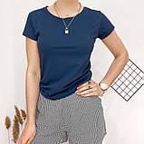 Футболка женская обличающая, максимальная классика, натуральная ткань, 8 цветов р.42-46 код 725Г, фото 9