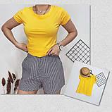 Футболка женская обличающая, максимальная классика, натуральная ткань, 8 цветов р.42-46 код 725Г, фото 4