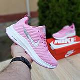 🔥 Женские кроссовки повседневные Nike Flyknit Lunar 3 розовые плотная ткань найк флайкнит, фото 3