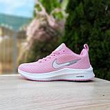🔥 Женские кроссовки повседневные Nike Flyknit Lunar 3 розовые плотная ткань найк флайкнит, фото 4