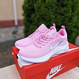 🔥 Женские кроссовки повседневные Nike Flyknit Lunar 3 розовые плотная ткань найк флайкнит, фото 5