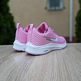 🔥 Женские кроссовки повседневные Nike Flyknit Lunar 3 розовые плотная ткань найк флайкнит, фото 7