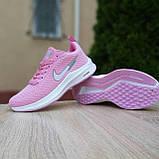 🔥 Женские кроссовки повседневные Nike Flyknit Lunar 3 розовые плотная ткань найк флайкнит, фото 9