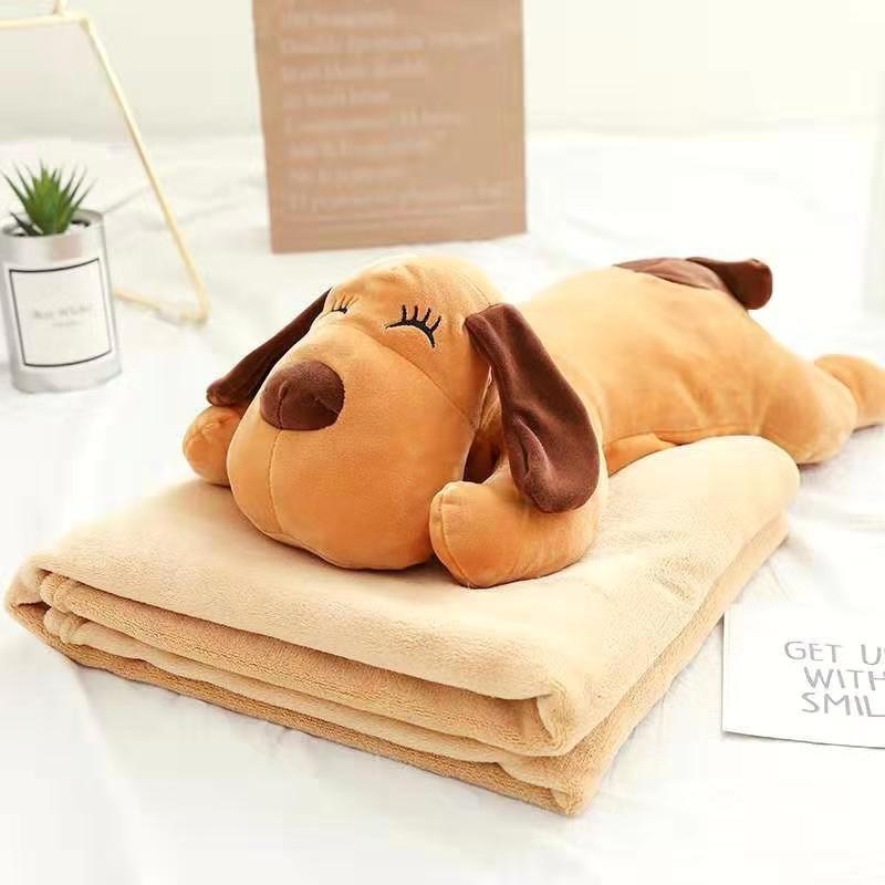 Игрушка собака сумка+плед