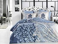 Постельное белье Hobby Турция Евро 200*220 Хлопок Поплин Цвет: синий