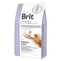 Brit GF VetDiets Dog Gastrointestinal 12 kg при нарушениях пищеварения  с селедкой, лососем, горохом