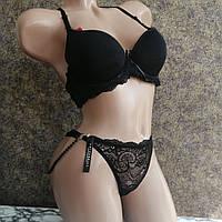 Комплект женского нижнего белья размер 36/80В черный