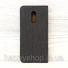 Чехол-книжка Goospery Canvas для Xiaomi Redmi 5 Plus (Серый), фото 2