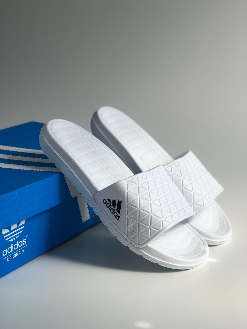 Шльопанці Adidas White