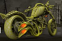 3D модель мотоцикла для 3D принтера