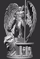 3D модель воин с крыльями для 3D принтера