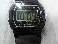 Часы электронные пластмассовые плоские