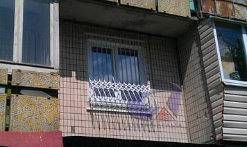 Решетка на окно выпуклая, луковица Шир.1430*Выс.1850мм