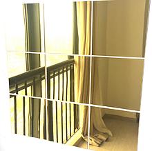 Набор акриловых зеркал 9 шт. 15×15 см × 1 мм золото