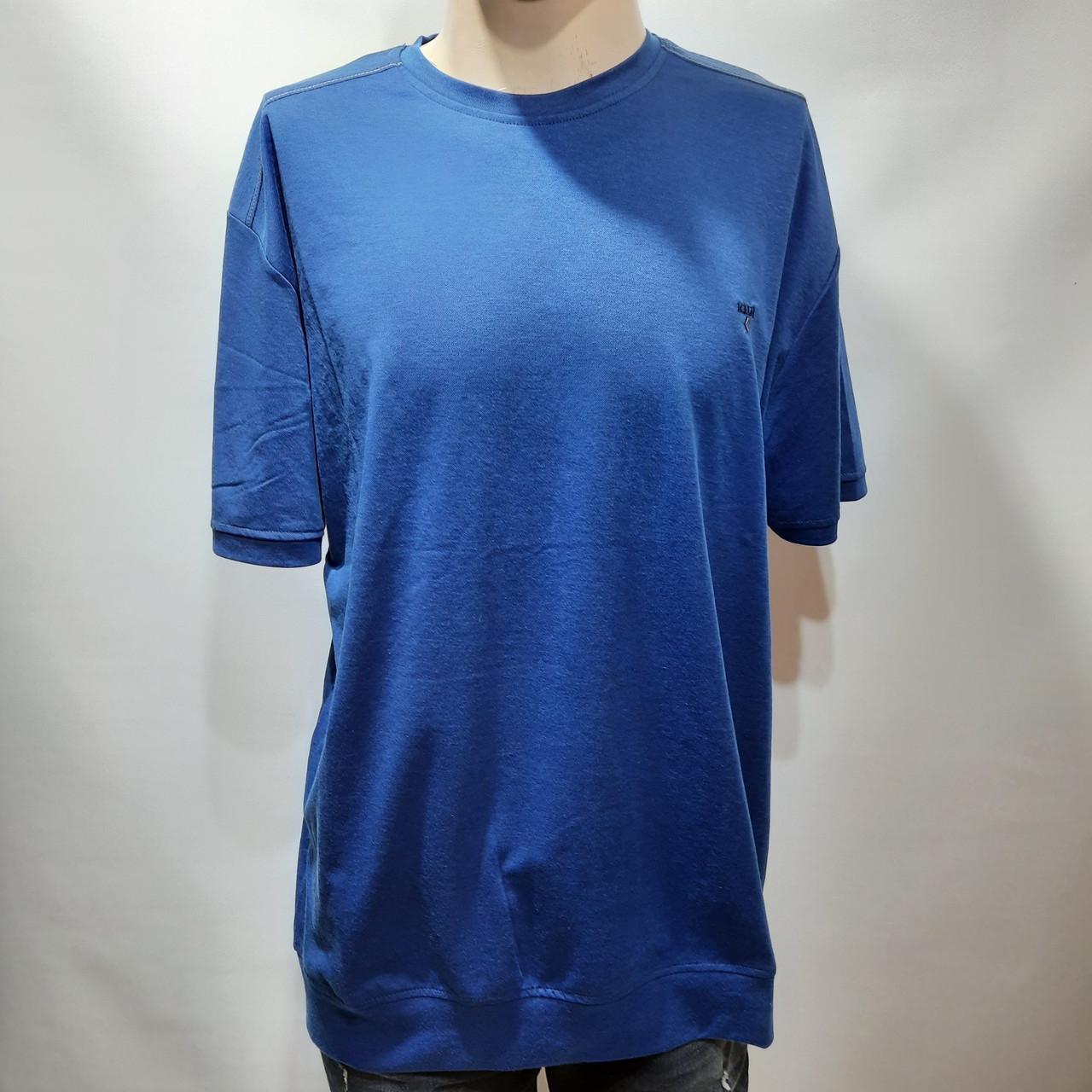 Мужская футболка (больших размеров) 2xl, 3xl, 4xl, 5xl Турция синяя