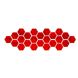 Акрилове дзеркало «Сота» 1 шт 265×230×132 мм ×1 мм червоне, фото 10