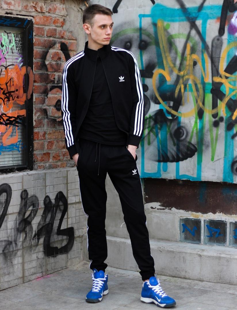 Модный молодёжный спортивный костюм чёрный  XS, S, M, L, XL, XXL