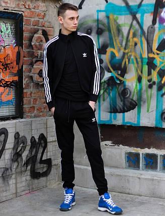 Модный молодёжный спортивный костюм чёрный  XS, S, M, L, XL, XXL, фото 2