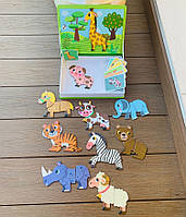 """Игра Магнитная книга - """"Найди половинку Животные"""" для работы по образцу, 3+"""