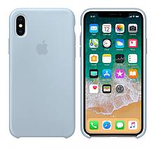 Чехол Silicone Case для Apple iPhone XS Max туманный синий (26 Mist blue) Эксклюзив