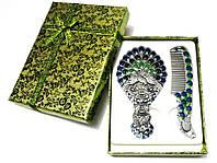 Подарочный набор зеркало и гребень Maniya металл эмаль