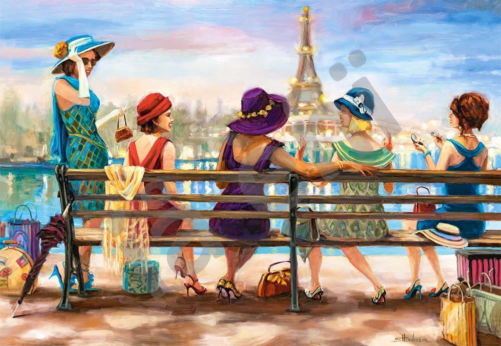 Пазлы на 1000 элементов Парижская жизнь, (Castorland, Польша)
