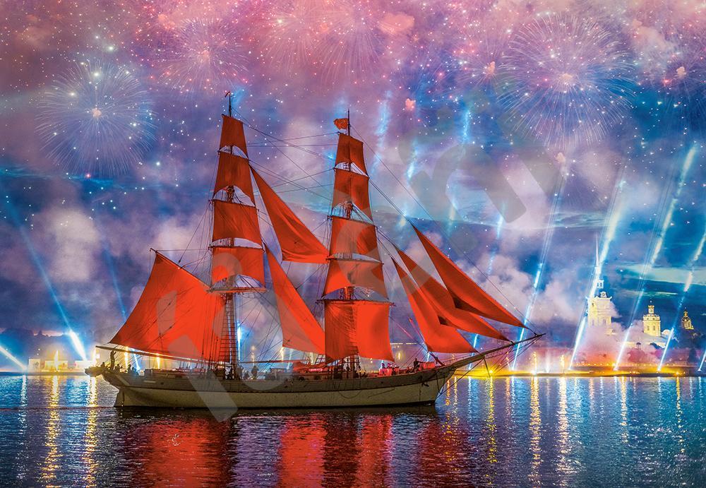Пазлы на 1000 элементов Алые паруса (парусник, корабль), (Castorland, Польша)