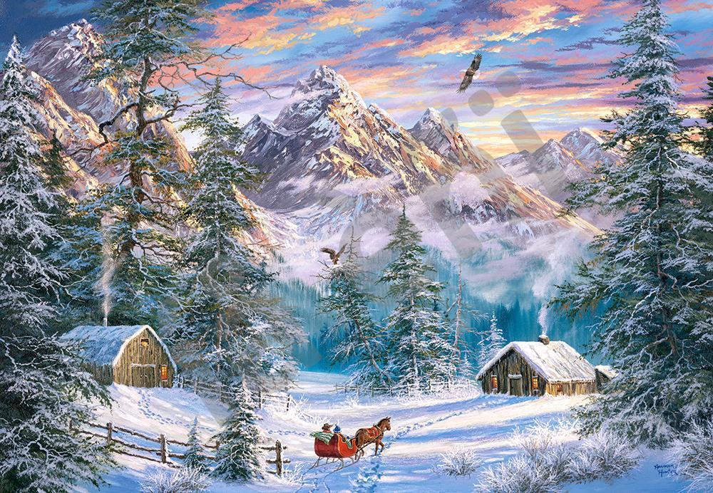 Пазлы на 1000 элементов Рождество в горах, (Castorland, Польша)