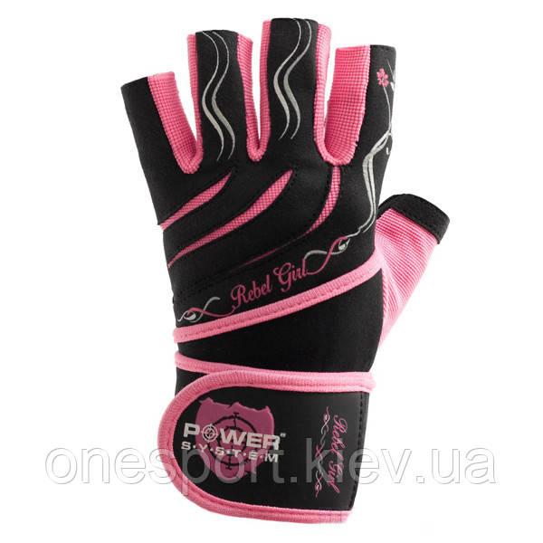 Перчатки Power System Rebel Girl Pink XS (код 147-310368)