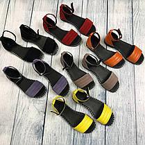 Замшеві босоніжки без каблука, шкіра або замша розміри 36-41, фото 3