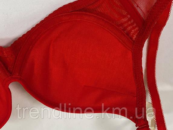 Бюстгальтер В Weiyesi № 2055 Пуш-ап гель Красный, фото 2