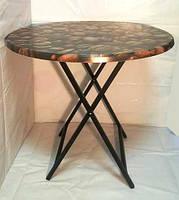 Стол круглый складной обеденный D 800 мм Верзалит (cofe)