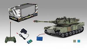 Боевой детский танк на пульте радиоуправлении зелёный Tank, фото 2