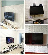 Самоклеющаяся декоративная 3D панель под белый кирпич 700*770*7мм, фото 3