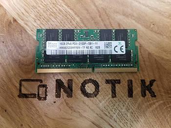 Оперативная память SODIMM DDR4 16GB 21330MHz SK hynix (HMA82GS6MFR8N-TF)