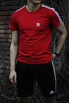 Модный молодёжный летний комплект -шорты и футболка   XS, S, M, L, XL, XXL, фото 2