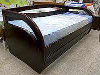 Кровать подростковая Бавария 80-200 см с ящиками (каштан)