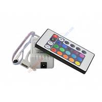RGB Контроллер однозональный с ИК управлением 6A 24 кнопки