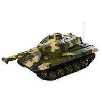 Боевой детский танк на пульте радиоуправлении зелёный Tank Победитель
